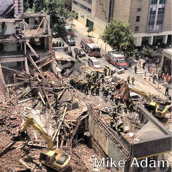 Mike Adam posted this photo on his Instagram page of the building collapse on 22nd and Market streets on June 5, 2013.