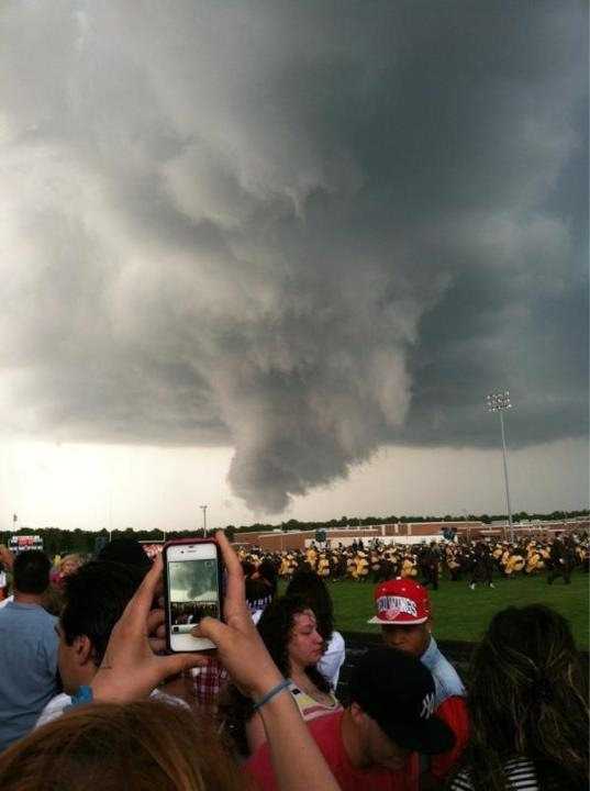 A storm broke up the Absegami High School graduation in Galloway Township, New Jersey on Thursday, June 7, 2012. <span class=meta>(Daniel&#47;Twitter)</span>