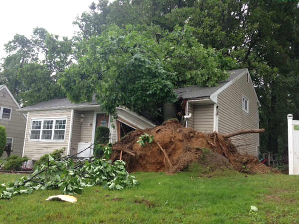 "<div class=""meta image-caption""><div class=""origin-logo origin-image ""><span></span></div><span class=""caption-text"">Storm damage from Glasgow, Delaware on Monday, June 10th.  From Lorraine Layton.</span></div>"