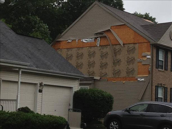 Storm damage from Newark, Delaware on Monday, June 10th.