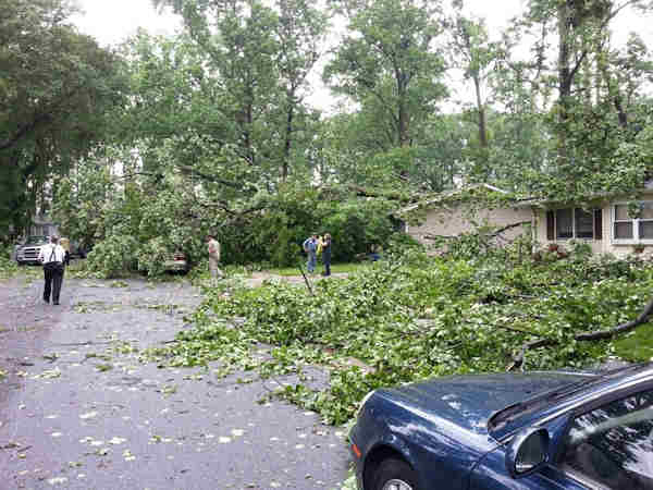 "<div class=""meta ""><span class=""caption-text "">Storm damage from Newark, Delaware.  From Twitter follower @djmashup2009.</span></div>"