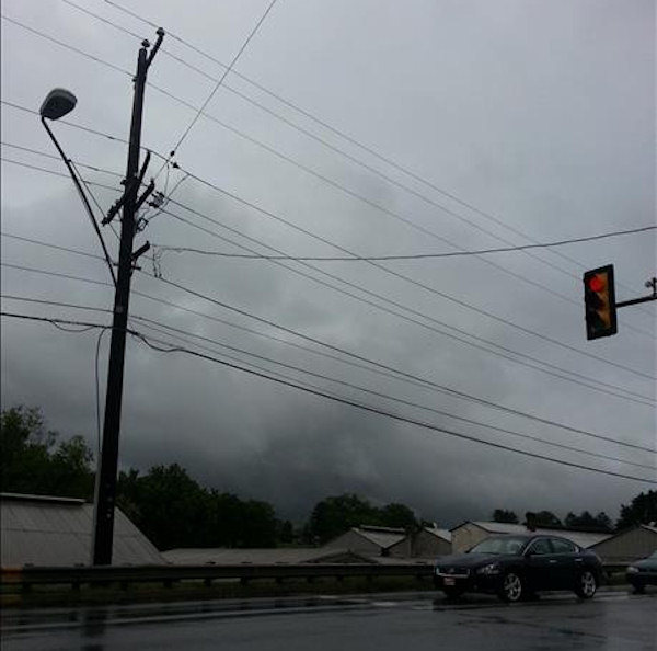 Action News viewers sent pictures of the storm clouds in New Castle County.  A tornado warning was issued for the county on Monday, June 10th.
