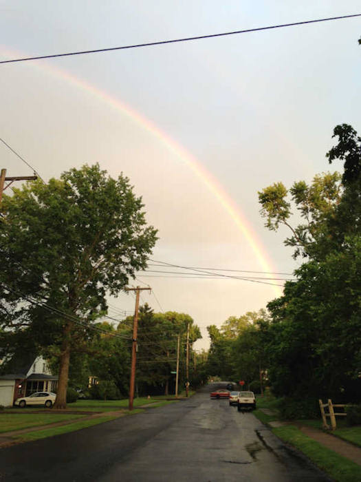 "<div class=""meta ""><span class=""caption-text "">Friday June 14, 2013: An Action News viewer captured pictures of the rainbow from Morrisville, Pa.</span></div>"