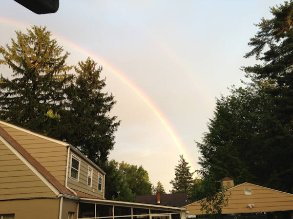 Friday June 14, 2013: An Action News viewer captured pictures of the rainbow from Morrisville, Pa.
