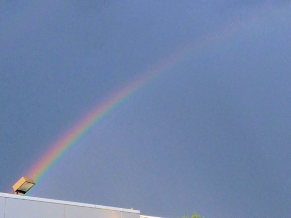 Friday June 14, 2013: An Action News viewer sent us this picture of the rainbow.