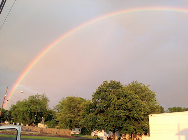 Friday June 14, 2013: An Action News viewer sent us this picture of the rainbow from Fairless Hills, Pa.