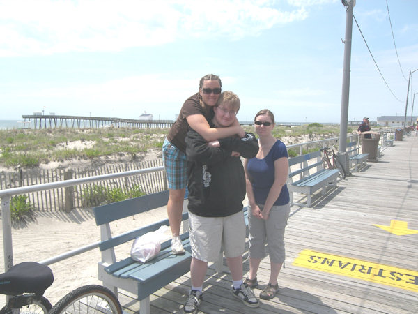 Submitted by:  Jessie Caption: Joie was visiting from Wyoming with her brother Jacob and sister Annie and we enjoyed a day in Ocean City!   CLICK HERE to submit your Shoretographs!