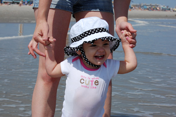 Submitted by: Ashley Caption:  Bella's first time at the beach.   CLICK HERE to submit your Shoretographs!