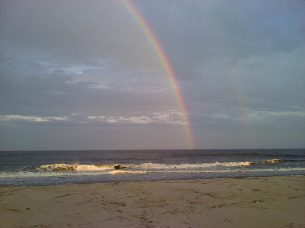 Submitted by:  Debby Ficke Caption: Gorgeous rainbow over the ocean in Surf City, NJ.   CLICK HERE to submit your Shoretographs!