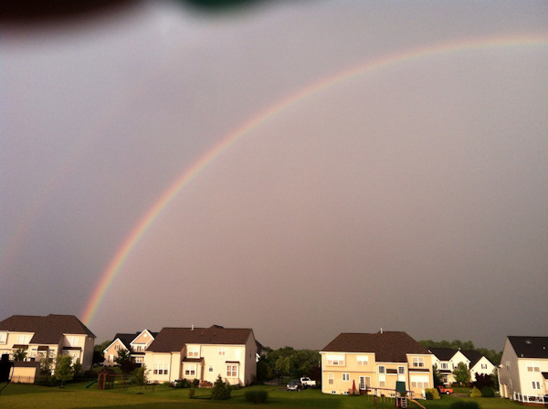 Double rainbow following storm in Avondale, Pa. on Monday, June 24, 2013 <span class=meta>(Viewer Photo)</span>