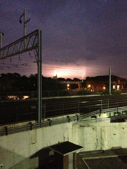 An Action News viewer took this photo from Temple University looking into New Jersey on Monday, June 24, 2013. <span class=meta>(Viewer Photo)</span>