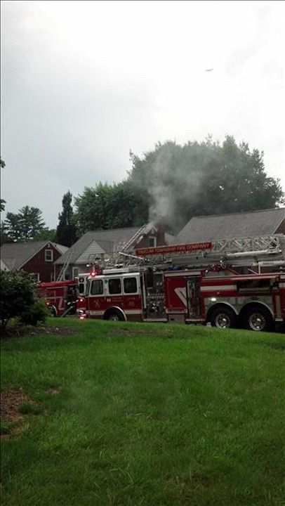 "<div class=""meta ""><span class=""caption-text "">A house was struck by lightning in Ridley Park on Monday, June 24, 2013 (Viewer Photo)</span></div>"