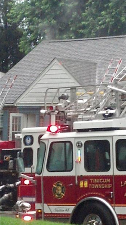 A house was struck by lightning in Ridley Park on Monday, June 24, 2013 <span class=meta>(Viewer Photo)</span>