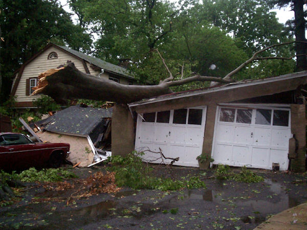 Submitted by:Sandy Caption:Three Lansdowne garages were taken out in one shot.  RELATED: CLICK HERE for more viewer submitted photos: