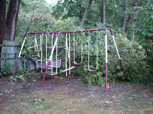Submitted by:Jennifer  Caption:Damage in Oceanville, Atlantic County NJ   RELATED: CLICK HERE for more viewer submitted photos: