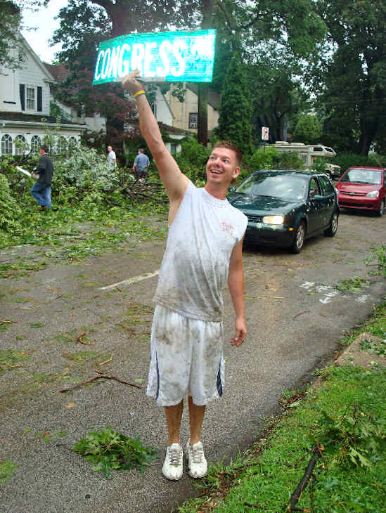 "Submitted by:Pop Pop   Caption:""Guess where the tree fell down""   RELATED: CLICK HERE for more viewer submitted photos"