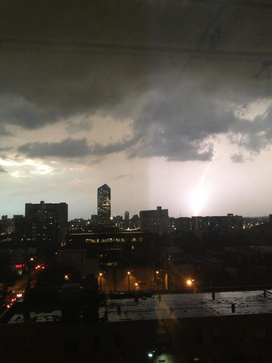 Action News viewer Michael Davis took this photo in Center City on June 26, 2013. <span class=meta>(Viewer Photo)</span>