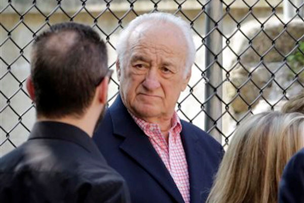 "Actor Jerry Adler arrives for the funeral service of James Gandolfini, star of ""The Sopranos,"" in New York's the Cathedral Church of Saint John the Divine, Thursday, June 27, 2013. The 51-year-old actor died of a heart attack last week while vacationing in Italy with his son.(AP Photo/Richard Drew)"