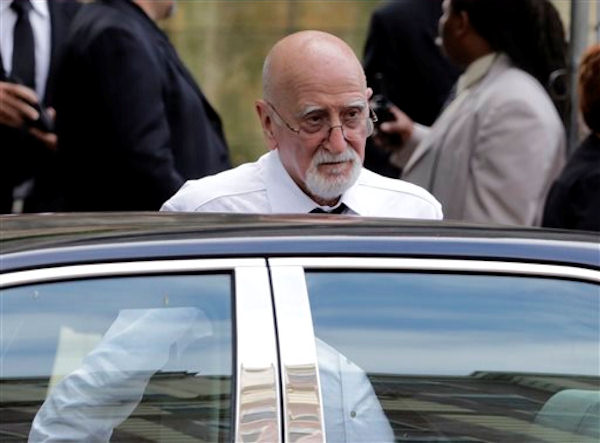 "<div class=""meta ""><span class=""caption-text "">Actor Dominic Chianese arrives for the funeral service of James Gandolfini, star of ""The Sopranos,"" in New York's the Cathedral Church of Saint John the Divine, Thursday, June 27, 2013. The 51-year-old actor died of a heart attack last week while vacationing in Italy with his son.(AP Photo/Richard Drew)</span></div>"