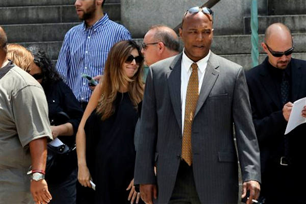 "<div class=""meta ""><span class=""caption-text "">Actress Jamie Lynn Sigler, center, leaves the Cathedral Church of Saint John the Divine after the funeral service for James Gandolfini, Thursday, June 27, 2013 in New York. Gandolfini, who played Tony Soprano in the HBO show ""The Sopranos"", died while vacationing in Italy last week. (AP Photo/Mary Altaffer)</span></div>"