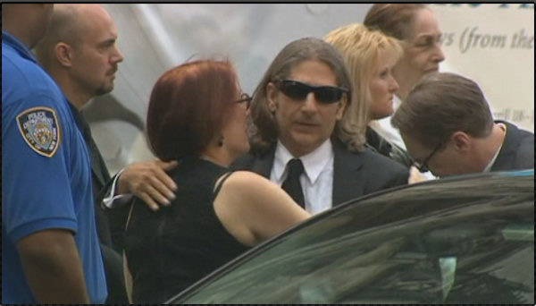 "Actor Michael Imperioli arrive for the funeral service of James Gandolfini, star of ""The Sopranos,"" in New York's the Cathedral Church of Saint John the Divine, Thursday, June 27, 2013."