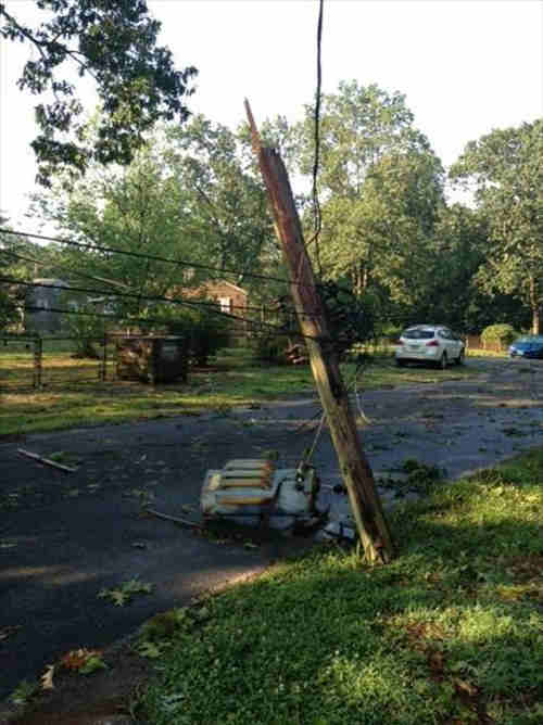 An Action News viewer sent in this photo of downed power lines from the violent summer storm in Collings Lake, New Jersey.  Send us your photos via See It, Shoot It, Send It!