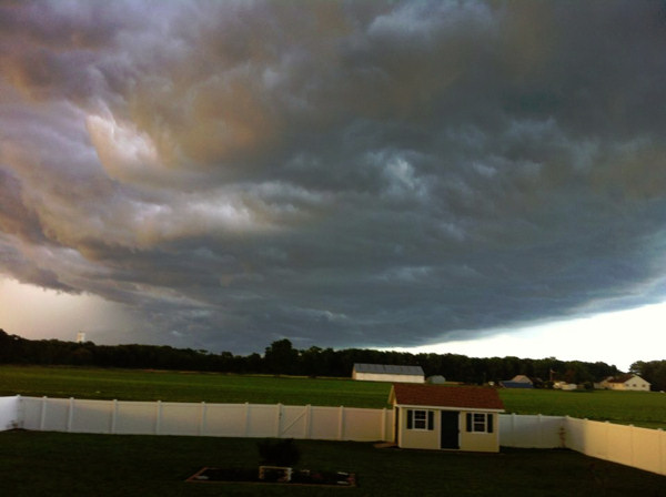 Leeanne Bailey Hoffman took this photo in South Jersey and sent it via Facebook.