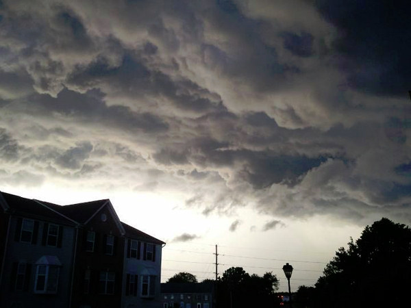 Lisa Hagelstein McClain took this photo in Newark, Delaware and sent it to us via Facebook.