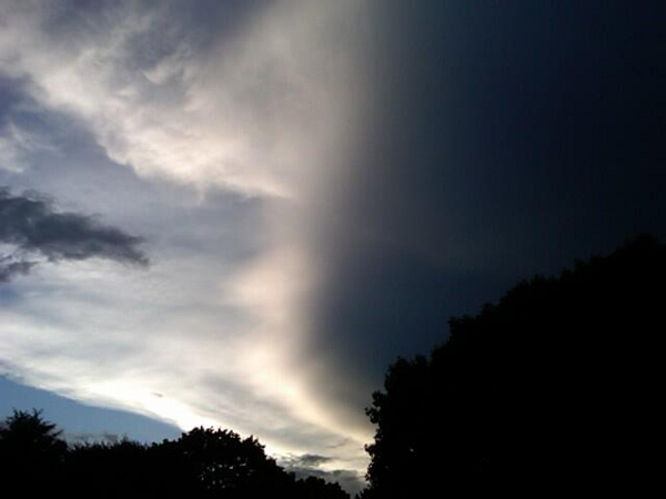 Alex Cheremeteff took this photo in Hockessin, Delaware and sent it via Twitter.