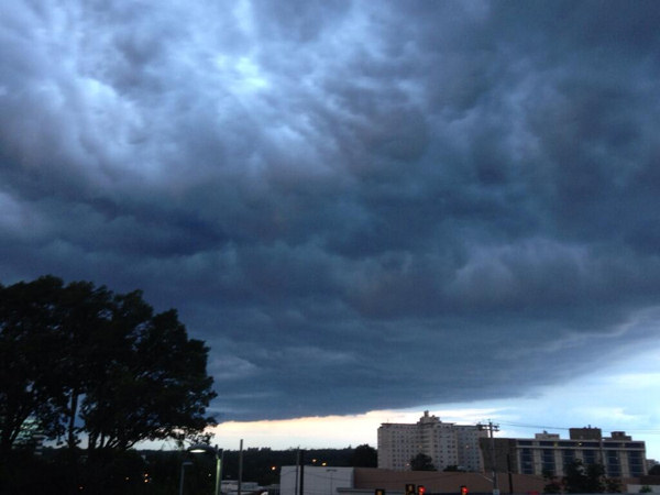 Meteorologist Melissa Magee snapped this photo outside our Action News studios.