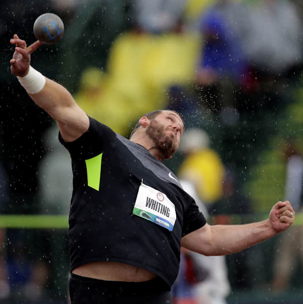 "Pictured: Ryan Whiting, Athletics, 6'3"" 300, 11/24/1986, Harrisburg, Shot Put  A total of 35 Pennsylvanians will compete in the 2012 Summer Olympic Games in London.    (AP Photo)"
