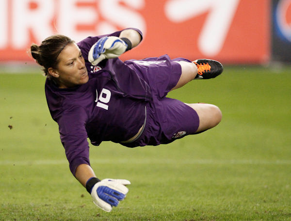 "Pictured: Nicole Barnhart, Soccer, 5'10"" 160, 10/10/1981, Gilbertsville, Goalkeeper  A total of 35 Pennsylvanians will compete in the 2012 Summer Olympic Games in London.    (AP Photo)"