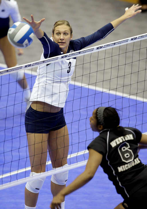 "<div class=""meta ""><span class=""caption-text "">Pictured: Christa Harmotto, Volleyball, 6'2"" 175, 10/12/1986, Hopewell, Middle Blocker  A total of 35 Pennsylvanians will compete in the 2012 Summer Olympic Games in London.    (AP Photo)  </span></div>"