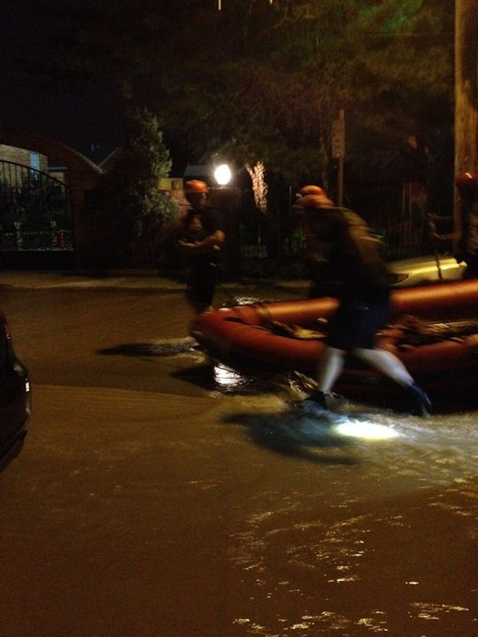 A large water main break in South Philadelphia resulted in evacuations on July 22, 2012.  <span class=meta>(&#40;Action News viewer&#47; twitter&#41;)</span>