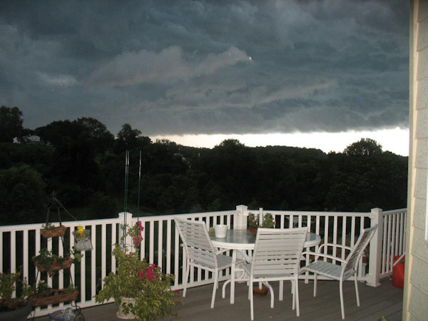 Facebook friend Helen sent in this photo of the storm on July 26, 2012.