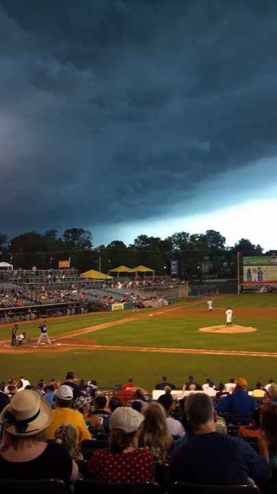 Charles sent in this photo from the Trenton Thunder game to 6abc.com of the storm on July 26, 2012.