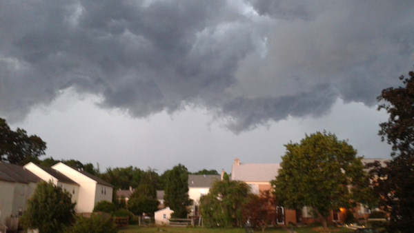 Nicole sent in this photo from Schwenksville to 6abc.com of the storm on July 26, 2012.