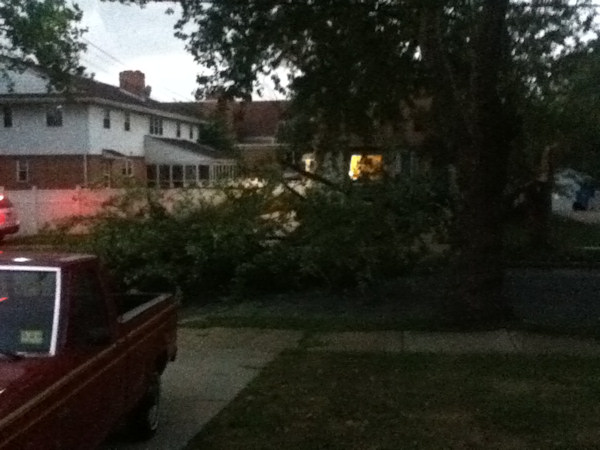 Mary sent in this photo from Cherry Hill, NJ to 6abc.com of the storm on July 26, 2012.
