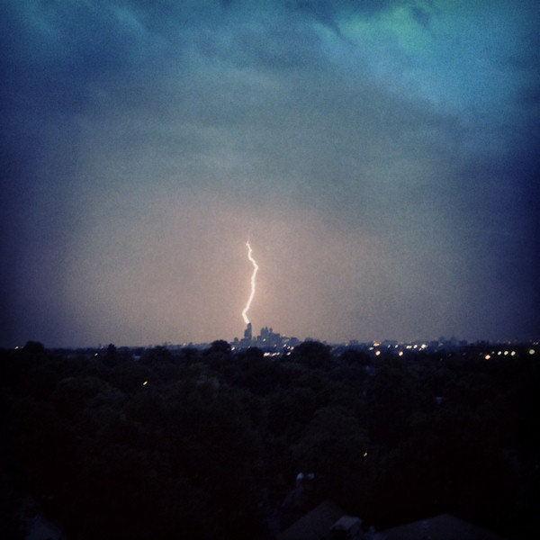Erika tweeted this photo from Philadelphia of the storm on July 26, 2012.