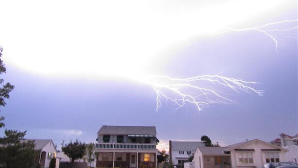 An Action News viewer sent in this photo of lightning in Ocean City, New Jersey.
