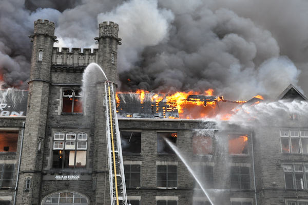 """<div class=""""meta image-caption""""><div class=""""origin-logo origin-image """"><span></span></div><span class=""""caption-text"""">This picture of the fire at the old Edison High School was sent courtesy of Dan Pelligrine of the Temple School of Journalism and Jacquelyne Rice</span></div>"""