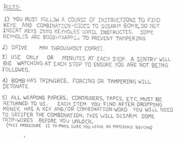 "<div class=""meta image-caption""><div class=""origin-logo origin-image ""><span></span></div><span class=""caption-text"">Shown is one of the nine pages of instructions that were found in pizza deliveryman Brian Wells' car after he was killed by a bomb locked around his neck after robbing a bank in Erie, Pa. minutes before. On Friday, Aug. 27, 2004, one day before the one-year anniversary of the explosion that killed Wells, the FBI released four of the nine pages of instructions that were found in Wells' car the day he died _ the most extensive information released by federal investigators to date.  (AP Photo/FBI)</span></div>"