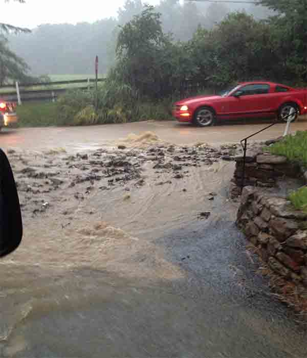 An Action News viewer sent us this picture of flooding at Diamond Rock Road and Yellow Springs