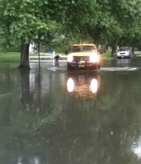 A viewer sent us this picture of a flooded street in Marlton, New Jersey.