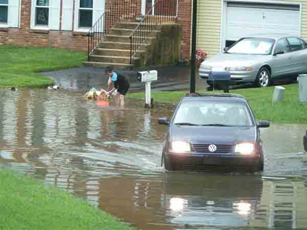 Andrew Ramsaran sent us this picture of flooding in Newark, Delaware.