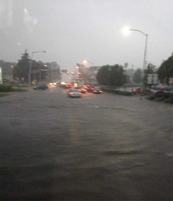 "Brendan Sherwood sent us this picture, with the caption: "" @6abc flooding in Upper Southampton"""