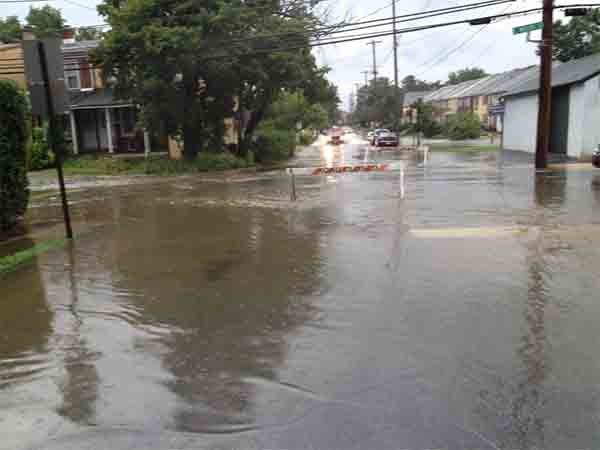 Sarah Kathleen sent in this picture of flooding in West Chester.