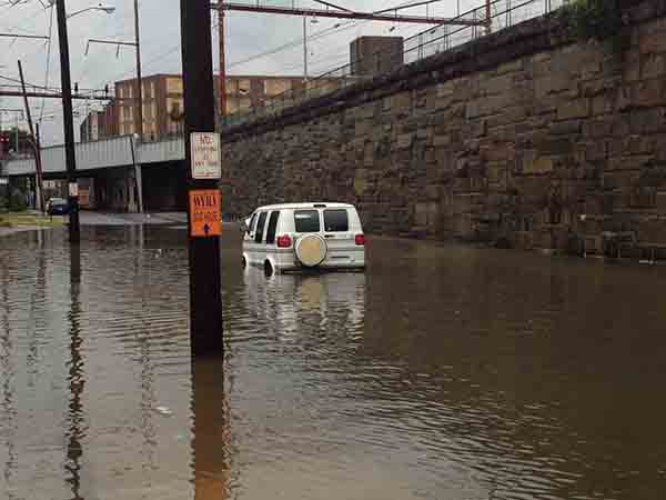 Joe Sisson sent in this picture of flooding near Wilmington's train station.