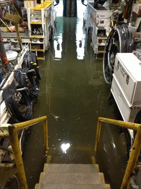 An Action News viewer sent pictures of flooding at a PSE&G station in Bellmawr, New Jersey.