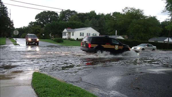 An Action News viewer sent in this picture of flooding in the Kirkwood section of Voorhees, NJ.